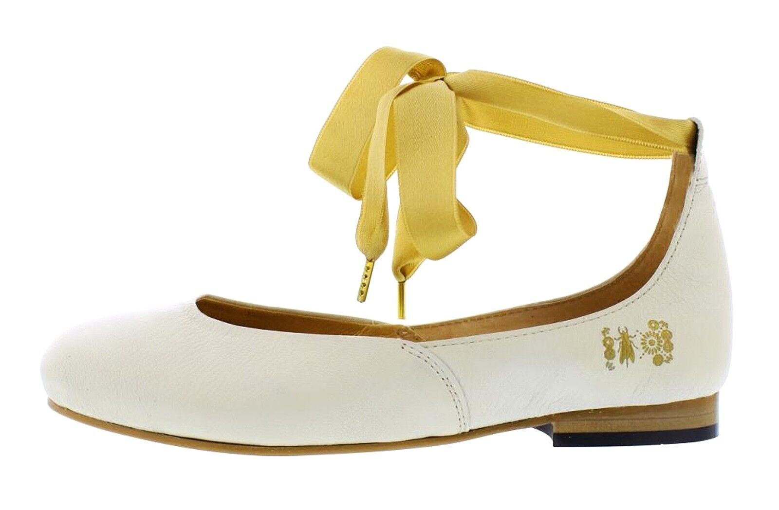 Fly London NEW Cristina Rodrigues Dwell 02 white leather ankle strap shoes 3-9