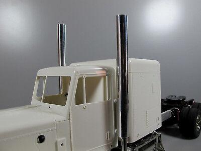Pair Aluminum Angle Exhaust Tip Pipe Tamiya 1//14 R//C Semi King Hauler Globeliner