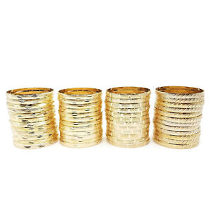 22k-24k-Real-Gold-Plated-4-Pcs-Look-Slim-Sleek-Indian-Bridal-Bangle-Bracelet-Set