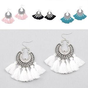 Vintage-Bohemian-Long-Tassel-Fringe-Drop-Dangle-Earrings-Women-Boho-Jewelry-HOT