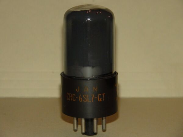 Jan Crc 6sl7 Gt Vacuum Tube Very Strong & Balanced Results= 1470/1430 Vouw-Weerstand