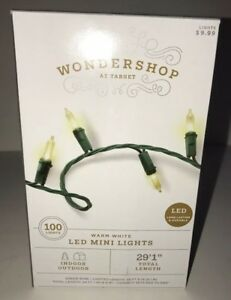 WONDERSHOP AT TARGET 100 LED Mini Lights WARM WHITE Indoor//Outdoor NEW