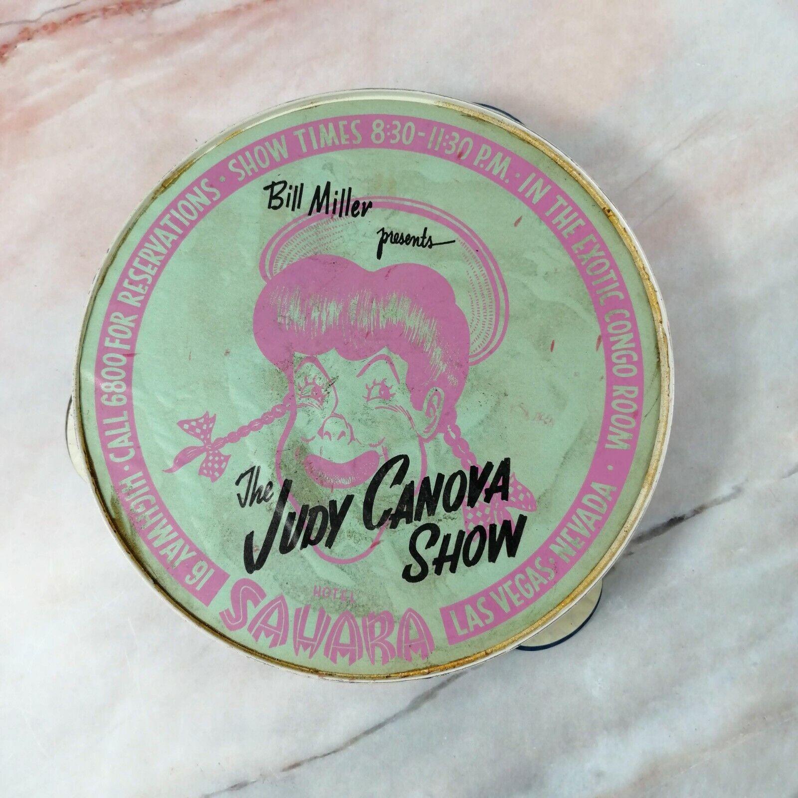 Vintage JUDY CANOVA Show Las Vegas Nevada Hotel Sahara Tambourine 7  (GREAT)