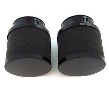 Set of 2 Black Foam Pod Filters - 50mm - Honda CB/CL350/360/450 CB500T