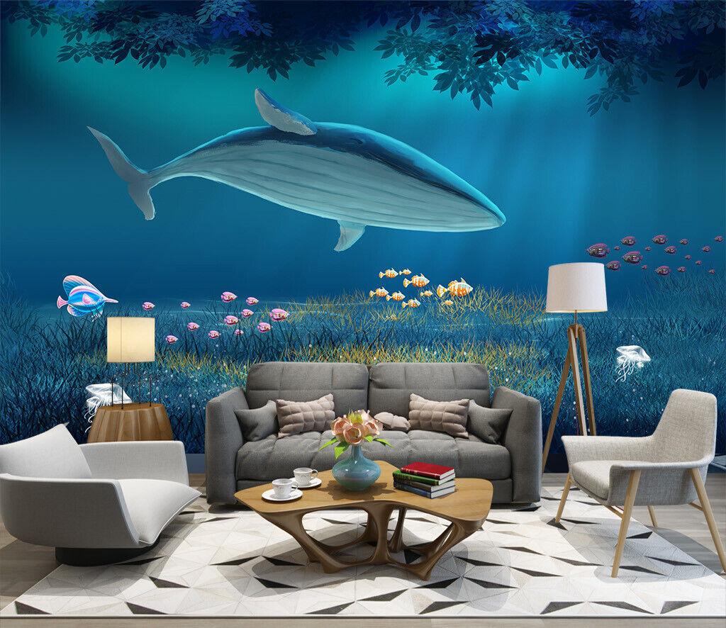 3D Sea Shark Fish N377 Wallpaper Wall Mural Removable Self-adhesive Sticker Amy