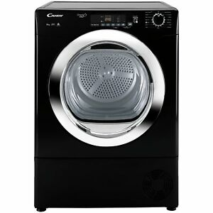 Candy GVS C10DCGB Free Standing 10KG Condenser Tumble Dryer - Black.