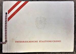 OSTERREICHISCHE-STAATSDRUCKEREI-SAMPLE-STAMP-BOOK-12-DIFFERENT-NATIONS-of-1950-039-s