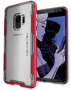 Pour-Galaxy-S9-CASE-Ghostek-manteau-Slim-Clair-antichoc-chargement-sans-fil-housse