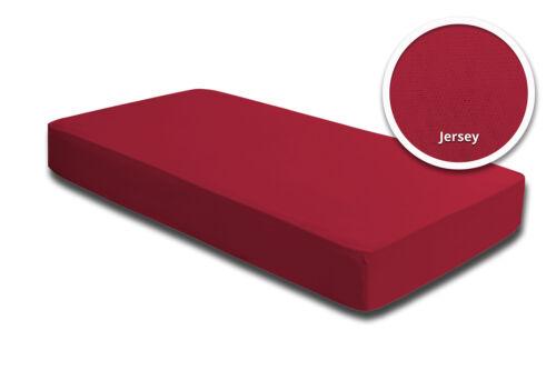 70 x 140 cm Jersey Baumwolle Spannbettlaken Babybett Kinder rot 60 x 120 cm