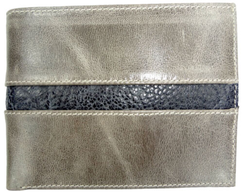 RFID Blocking Vegetable Tanned   CALFSKIN LEATHER WALLET BIFOLD  PEBBLED OSTRICH