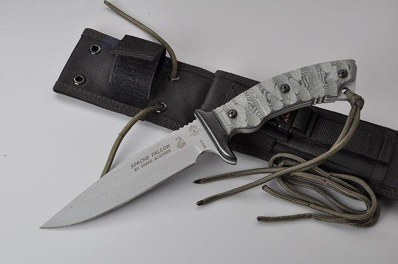 TPAFAL01 Tops Apache Falcon Hunter 1095 Carbon Blade Micarta Handles Made In USA