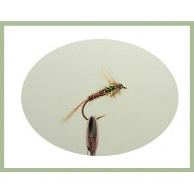 Fishing Flies Black Spandex Spiders 6 Pack Choice of sizes Trout flies