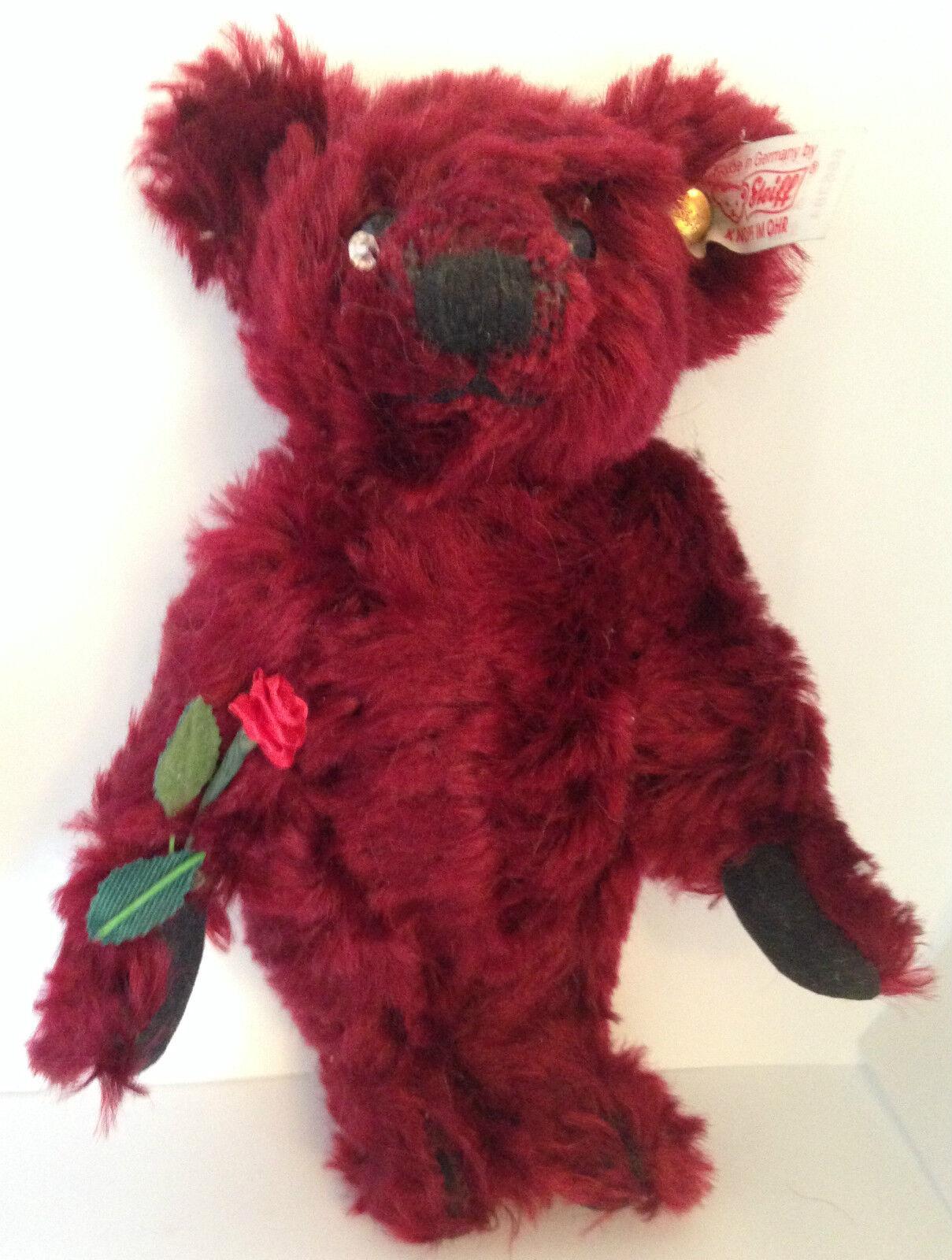 ️Steiff MINI DEW DROP ROSE Teddy Bear   666384 MOHAIR 6  16cm EUC ~ Precious ️