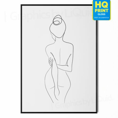Get Naked Typography Line Art Posters PrintA5 A4 A3 A2 A1