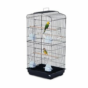 36-034-Bird-Cage-Cockatoo-Macaw-Play-House-Parrot-Finch-2-Doors-Pet-Perch