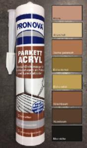 Parkettacryl-Kork-Laminat-Acryl-Fugenmasse-Dichtstoff-Holzfarbtoene
