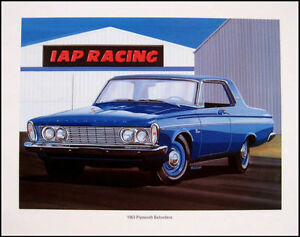 1963-Plymouth-Belvedere-426-Wedge-Art-Print-Lithograph