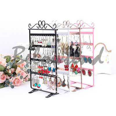 Useful 48 Holes Display Rack Metal Stand Holder Jewelry Earrings Organizer H