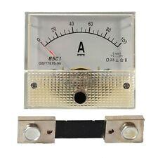 Analog Ammeter Panel AMP Current Meter 85C1 Gauge + Shunt Resistor Set DC 0-100A
