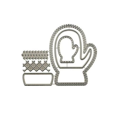Weihnachten Handschuhe Metall Stencil Cutting Dies Scrapbooking Stanzschablone