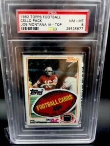 1982-PSA-8-Topps-Football-Cello-Pack-Joe-Montana-Top-Poss-Lott-Taylor-RC-PSA10