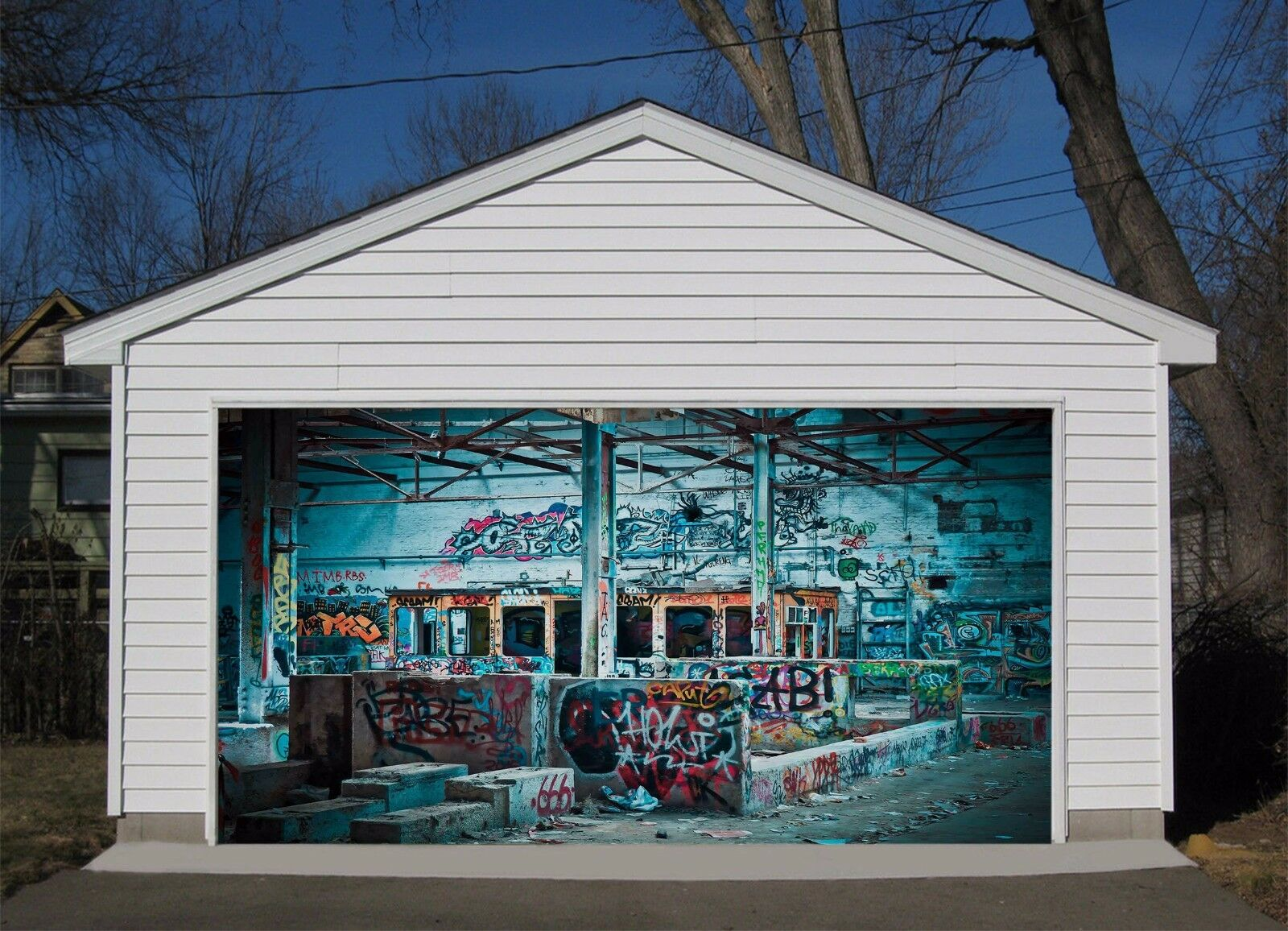 3D Huge graffiti Garage Door Murals Wall Print Decal Wall Deco AJ WALLPAPER AU