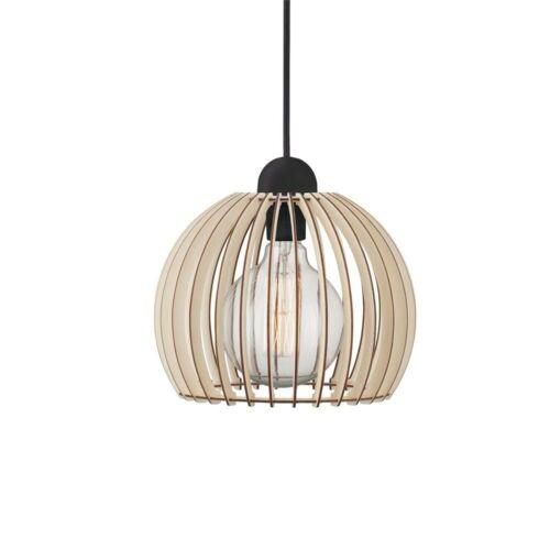 Nordlux 84823014 Chino 25 pendule Lampe Avec Tissu Câble bois pendule Lampe