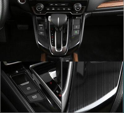 1PC For Honda CRV 2017-18 Steel Look Interior Gear Panel Moulding Cover Trim Kit
