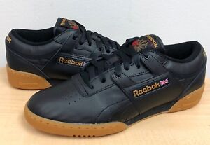 de1b082882f05 Image is loading MENS-REEBOK-CLASSIC-WORKOUT-LO-Black-Gum-67107-