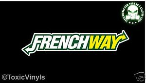 PUGWAY sticker decal pug peugeot french car euro sticker decal