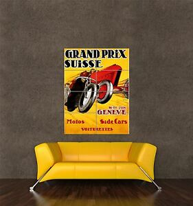 GIANT PRINT POSTER SPORT MOTORCYCLE SIDECAR GENEVA SWITZERLAND PDC094