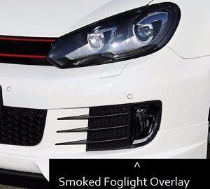 2010 2013 Vw Mk6 Dark Smoke Fog Light Overlay Tint Vinyl