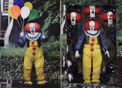 """NECA IT Pennywise Clown 1990 Ultimate 7/"""" Action Figure 1:12 Movie Doll New"""