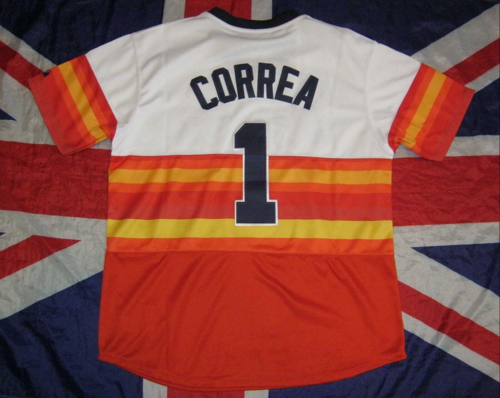 9f07a8c83 Baseball USA Carlos Correa Houston Astros Shirt Jersey Majestic ...