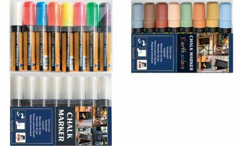 Securit Kreidemarker ORIGINAL LARGE 8 Farben Etui Kreidefarbe Kreidestift Chalk