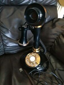 Vintage-Candlestick-Rotary-Dial-Phone-Telephone-Radio-Shack-antique