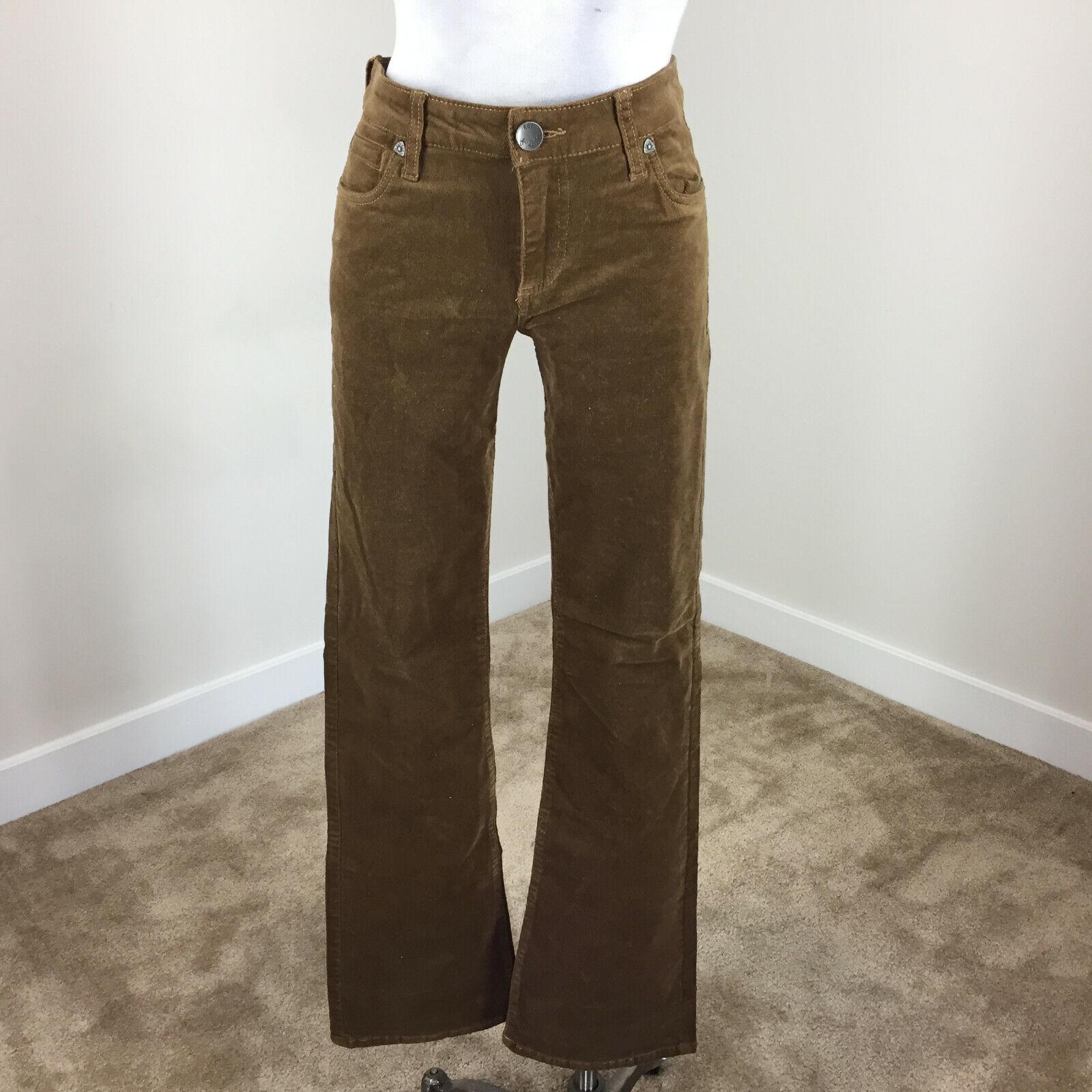 Kut from the Kloth 6 Karen Baby Bootcut Micro Corduroy Pants brown