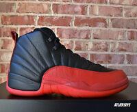 2016 Nike Air Jordan 12 XII Retro Flu Game Black Red Bred Size 130690-002