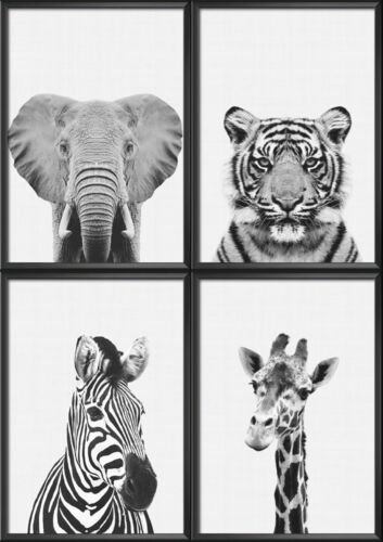 POSTERS WALL ART ANIMAL PRINTS BABY Room Poster,Safari,Woodland Animals
