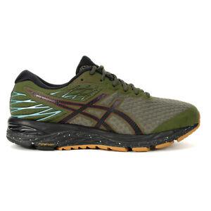 ASICS Men's Gel-Cumulus 21 Winterized Olive Canvas/Black Running Shoes 1011A6...