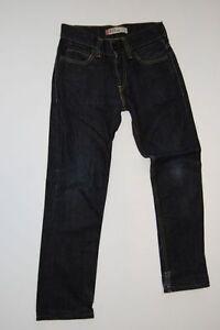 Levis-511-Slim-Jeans-Hose-Dunkelblau-Stonewashed-W30-L32
