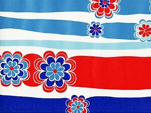 PAINTING-ABSTRACT-FLOWER-RIBBON-RED-WHITE-BLUE-ART-POSTER-PRINT-LV2283