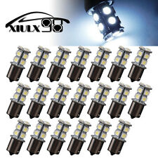 20x Cool White 1156 Ba15s 13smd RV Trailer Tail Brake Stop Backup LED Light Bulb