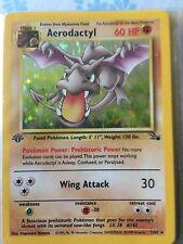 Pokemon 1999 Rare Holo Aerodactyl 1st Edition 1/62 GEM MINT