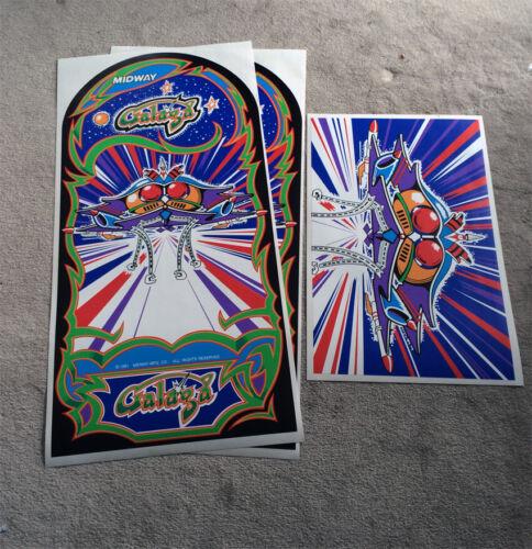 GALAGA SIDE ART UV Printed not INK JET 6 Mil Semi Rigid Vinyl Installs Easy