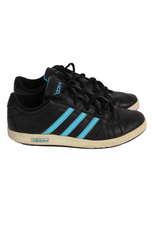 VINTAGE ADIDAS vibetu Negro Tres Rayas casuales Correr Retro Zapatos Negro vibetu - S380 034fb0