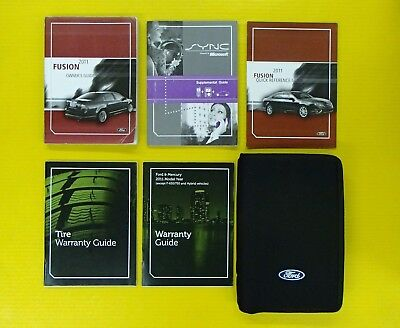 fusion   ford owners owners manual set  case