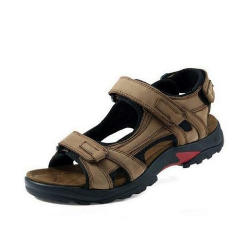 Mens Leather Sandals Summer  Open Toe Sandles Sport Sandal Hiking Casual shoes