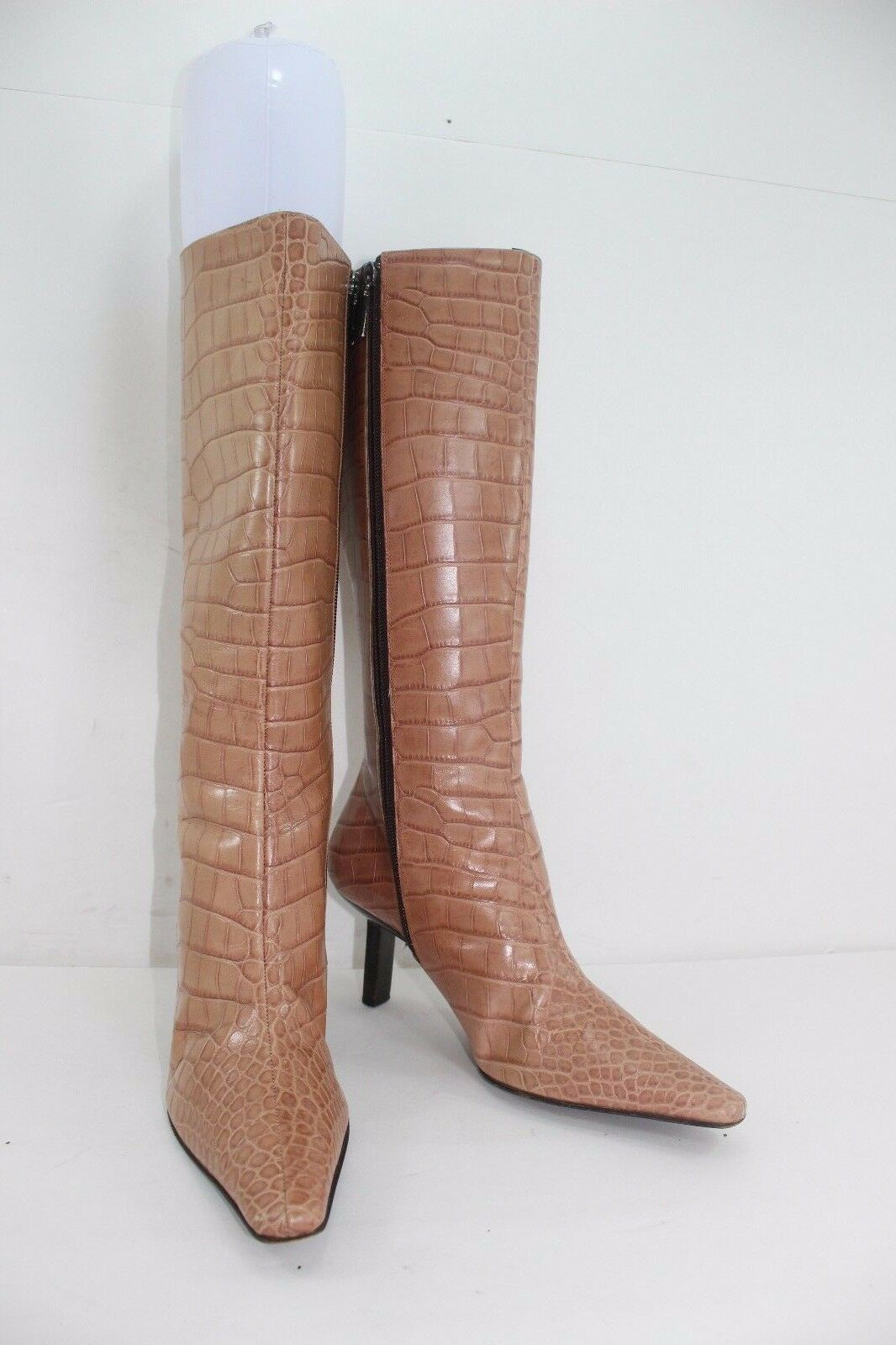 BRUNO MAGLI CROC EMBOSSED BROW BROW BROW SIZE 37 1 2 US SZ 7 MADE IN ITALY IN GREAT CONDIT 4d2575