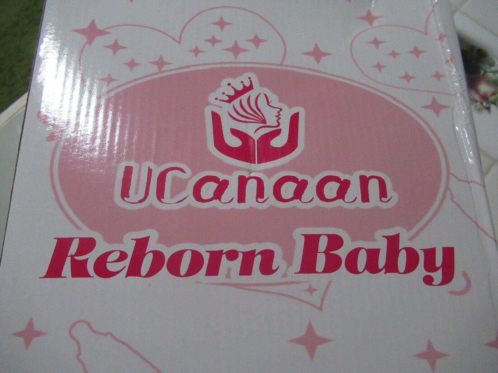UCanaan Reborn Baby Doll Boy Brown Hair & Eyes with Accessories NIB